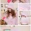 หมวกคุณแม่อยู่เดือน MEDO & JOJO สีชมพูจุดเทา thumbnail 2