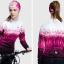 เสื้อปั่นจักรยานแขนยาวผู้หญิง SOUKE สีม่วง : CPL5107 thumbnail 2