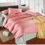 ผ้าปูที่นอน tencel สีชมพู-สีเทา สีพื้น thumbnail 1