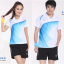 ชุดแบดมินตัน เสื้อแบดมินตัน LI-NING สีขาวฟ้า : 406 thumbnail 1