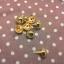 หมุดกลม12mm ทองแพค4ตัว thumbnail 1