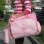 กระเป๋าคุณแม่ กระเป๋าใส่ของเด็กอ่อน สัมภาระลูกน้อย สีชมพู แมลงเต่าทอง Set สุดคุ้ม 3 ใบ thumbnail 2