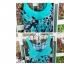ชุดว่ายน้ําคนอ้วน แบบวันพีช ทรงเดรส ลายกราฟฟิค สีฟ้า thumbnail 4