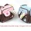 กระเป๋าใส่ของใช้เด็ก สะพายใบเล็ก แบรนด์ carter's ปักลายดอกไม้/หัวใจ มี 2 สี ฟ้า ชมพู thumbnail 3