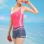 ชุดว่ายน้ำ แบบสปอร์ต กางเกงขาสั้น เสื้อกล้าม สีชมพู thumbnail 2