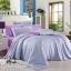ผ้าปูที่นอน ผ้าเทนเซล tencel สีพื้นทูโทน thumbnail 1