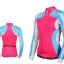 เสื้อปั่นจักรยานแขนยาวผู้หญิง SOUKE สีชมพูฟ้า : CL21011 thumbnail 1