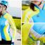 เสื้อปั่นจักรยานแขนยาวผู้หญิง SOUKE สีฟ้าเขียว : CL21011 thumbnail 2