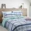 ผ้าปูที่นอน ลายเส้นตาราง โทนสีฟ้า-เขียว thumbnail 1
