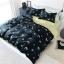 ผ้าปูที่นอน ลายเป็ด พิ้นสีดำ-เหลืองลายเส้น thumbnail 1
