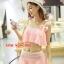 ชุดว่ายน้ำ บิกินี่ ทูพีช แบบระบาย Pink thumbnail 1
