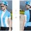 เสื้อปั่นจักรยานแขนสั้นผู้หญิง SOUKE ฟ้า : D2104 thumbnail 2