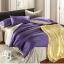 ผ้าปูที่นอน tencel สีม่วง-เทา สีพื้น thumbnail 1
