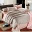 ผ้าปูที่นอน tencel สีเทา-ชมพู สีพื้น thumbnail 1