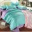 ผ้าปูที่นอน tencel สีฟ้า-ม่วง สีพื้น thumbnail 1
