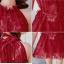 ชุดว่ายน้ำ บิกินี่เซ็ท 3 ชิ้น เสื้อคลุมลูกไม้ สีแดง thumbnail 10
