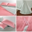 ผ้าปูที่นอน tencel สีชมพู-สีเทา สีพื้น thumbnail 2