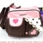 กระเป๋าใส่ของใช้เด็ก สะพายใบเล็ก แบรนด์ carter's ปักลายดอกไม้/หัวใจ มี 2 สี ฟ้า ชมพู thumbnail 2
