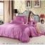 ผ้าปูที่นอน ผ้าซาติน satin 100% สีพื้น thumbnail 2