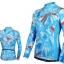 เสื้อปั่นจักรยานแขนยาวผู้หญิง SOUKE ฟ้า : CL2000 thumbnail 1