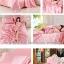 ผ้าปูที่นอน ผ้าซาติน satin 100% สีพื้น thumbnail 3