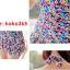 ชุดว่ายน้ำวินเทจ แบบวันพีช ชายระบาย เว้าหลังลายดอก Pink thumbnail 4