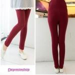 กางเกงเลกกิ้งคนท้องขายาวสีแดง