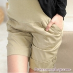 กางเกงคลุมท้องขาสั้นสีน้ำตาล