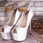 รองเท้าคัทชู ส้นสูง ZARA Style ทรงสวยเปรี้ยวเริ่ดหรู หนังอย่างดี แต่งเก๋ ดีเทลรัดข้อเท้าอะไหล่เส้นทอง ใส่สวยดูดีสง่า ดูเท้าเรียวเล็ก ออกงาน ปาร์ตี้ โดดเด่นเกินใคร สีดำ ทอง เงิน สูง 6 นิ้ว เสริมหน้า 3 นิ้ว (FH-212)