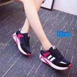 รองเท้าผ้าใบแฟชั่น แต่งลายสวยเทห์ เสริมส้น พื้นนุ่มใส่สบาย (A0119)