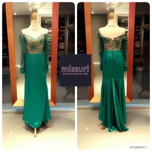 ชุดราตรีสีเขียว maxi dress สีเขียว ลูกไม้ ปาดไหล่ มีแขน ทรงเข้ารูป หางปลา สไตล์ วินเทจ แกสบี้ ย้อนยุค มากๆค่ะ สำเนา