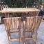 ชุดโต๊ะบาร์เก้าอี้พนักพิงไม้อะคาเซีย thumbnail 1