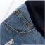 กางเกงคลุมท้องยีนส์ขาสั้นสีน้ำเงิน แต่งขอบลูกไม้ thumbnail 6