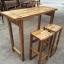 ชุดโต๊ะบาร์ไม้อะคาเซีย 2 ที่นั่ง thumbnail 1
