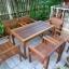 ชุดโต๊ะเก้าอี้สนามร้านอาหาร 6 ที่นั่ง วางกลางแจ้งได้ thumbnail 3