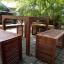 """ชุดโต๊ะเก้าอี้ระแนงไม้เนื้อแข็ง """"เก้าอี้ล้อม"""" thumbnail 5"""