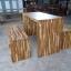 ชุดโต๊ะนั่งเล่นโมเดิร์น 120 ม้านั่ง 2 ตัว thumbnail 2