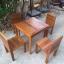 ชุดโต๊ะเก้าอี้แก่นจันทร์ 2 ที่นั่ง thumbnail 4