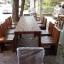 """ชุดโต๊ะไม้ระแนงทานอาหาร ไม้เนื้อแข็ง """"ราด-รีใหญ่"""" thumbnail 4"""
