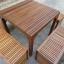 """ชุดโต๊ะเก้าอี้ระแนงไม้เนื้อแข็ง """"เก้าอี้ล้อม"""" thumbnail 4"""
