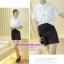 กางเกงคลุมท้องขาสั้นสีดำ เนื้อผ้ามีลายนูนในตัว ด้านในมีซับผ้ามันลื่น thumbnail 4
