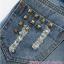 กางเกงคลุมท้องยีนส์ขาสั้นสีน้ำเงิน แต่งขอบลูกไม้ thumbnail 4