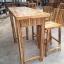 ชุดโต๊ะบาร์เก้าอี้พนักพิงไม้อะคาเซีย thumbnail 5