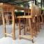 ชุดโต๊ะบาร์ 220 ไม้อะคาเซีย 3 ที่นั่ง thumbnail 4