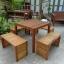 """ชุดโต๊ะเก้าอี้ระแนงไม้เนื้อแข็ง """"เก้าอี้ล้อม"""" thumbnail 2"""