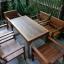 ชุดโต๊ะเก้าอี้สนามร้านอาหาร 6 ที่นั่ง วางกลางแจ้งได้ thumbnail 1