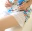 กางเกงขาสั้นซับในคนท้องปลายขาลูกไม้ สีขาว thumbnail 1