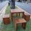 """ชุดโต๊ะเก้าอี้สนาม """"ชุดราด-รี บางแพ"""" 4 ที่นั่ง thumbnail 1"""