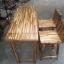 เก้าอี้บาร์พนักพิงไม้อะคาเซีย thumbnail 1