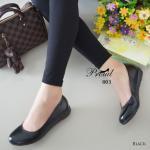 รองเท้าคัทชู มินิเตารีดส้นเตี้ย ทรงหน้ามน วัสดุพียูเงาสวยเรียบคลาสสิค เก็บ หน้าเท้า โทนสีดำ สุภาพเรียบร้อย น้ำหนักเบาสบาย ใส่ได้ทุกวัย ทุกโอกาส สูง 2 เซน สีดำ